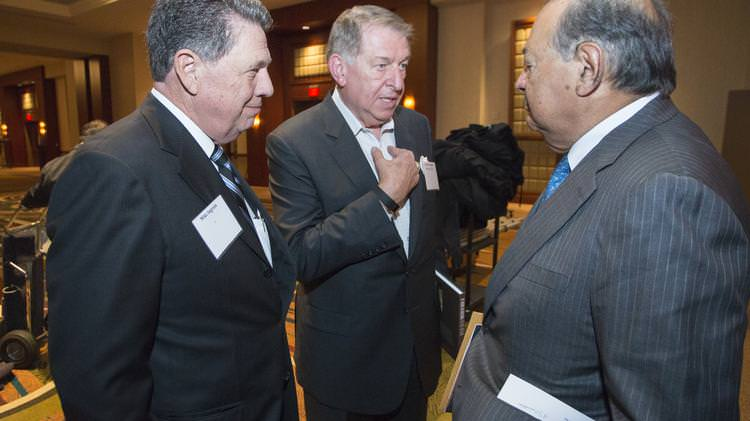Mike Ingram, left, Jerry Colangelo, center, and Carlos Slim