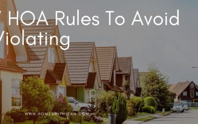 7 HOA Rules To Avoid Violating