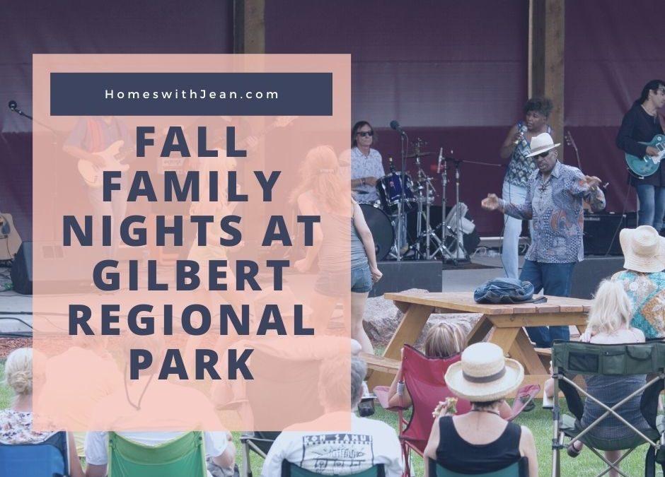 Fall Family Nights at Gilbert Regional Park